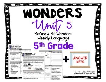 Mc-Graw Hill Wonders Unit 5 5th Grade Language Practice