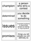 Mc Graw Hill Wonders Unit 5 Week 1 Vocabulary Flash Cards