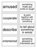 Mc Graw Hill Wonders Unit 5 Week 2 Vocabulary Words Flash Cards