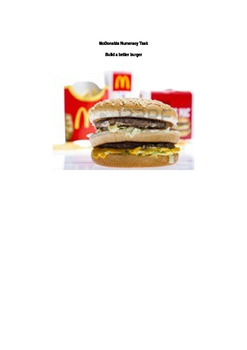 Mc donalds numeracy Task