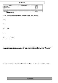 McAlgebra