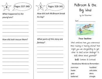 McBroom and the Big Wind Trifold - Imagine It 3rd Grade Unit 6 Week 5