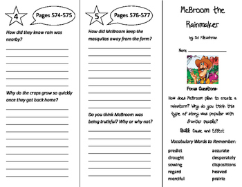 McBroom the Rainmaker Trifold - Imagine It 5th Grade Unit 5 Week 5