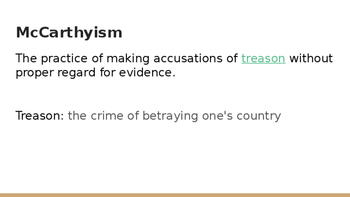McCarthyism Background PowerPoint