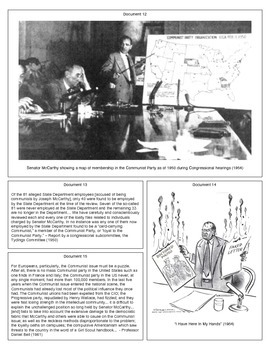 McCarthyism (Document Packet)
