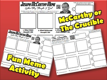Joseph McCarthy or The Crucible Meme