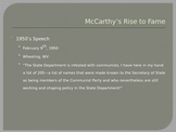 McCarthyism and The Crucible PPT