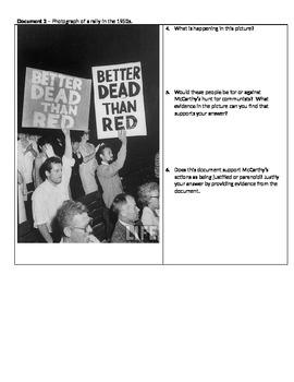 McCarthyism/Cold War DBQ