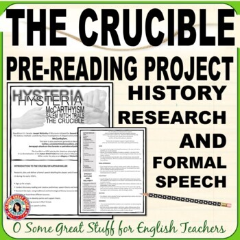 The Crucible/McCarthyism/Witch Trials--Research and Formal Speech Introduction