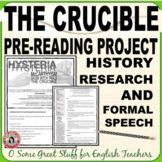 The Crucible, McCarthyism, and Salem Witch Trials Research