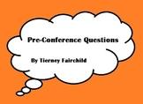 McCrel Teacher Evaluation conference questions