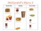 McDonald's Menu Activities