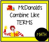 McDonalds Combine Like Terms