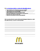 McDonalds Food WebQuest