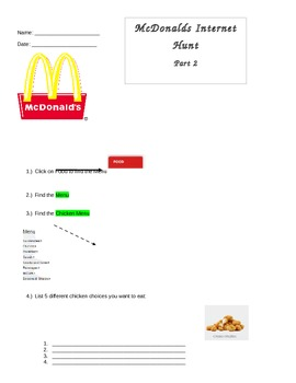 McDonald's Internet Hunt Part 2