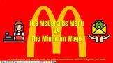 McDonalds Menu vs Minimum Wage: Decimal Ratios 6th Math Go