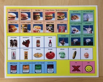 McDonalds Picture Menu