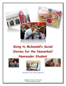 McDonald's Social Story 1 Extended for the Non-Verbal/Non-Reader Student