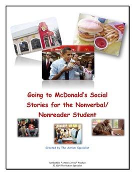 McDonald's Social Story 1 Extended for the Non-Verbal/Non-