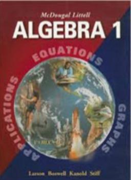 McDougal Littel Algebra 1 Homeworks and keys  Chapters 1 and 2