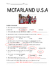 McFarland Movie Guide