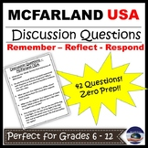 McFarland USA - Movie - Discussion Questions