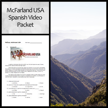 McFarland USA Spanish Movie Question Guide