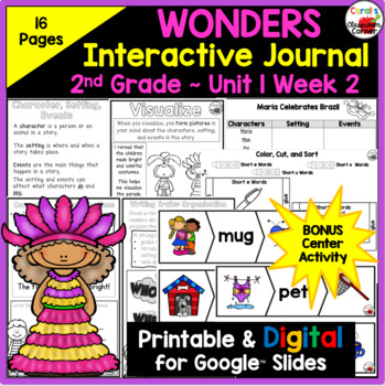 Wonders 2nd Grade Interactive Journal Unit 1 Week 2