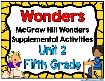 McGraw Hill Wonders 5th Grade Unit 2 Activities
