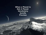 McGraw Hill Wonders 5th Grade When a Planet is not a Planet Vocabulary Bundle