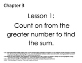 McGraw Hill 1st Grade Objective Cards Chapter 3