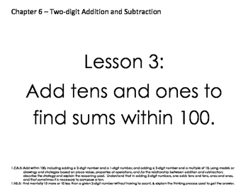 McGraw Hill 1st Grade Objective Cards Chapter 6