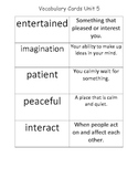 McGraw Hill 2nd Grade Vocabulary Definition Cards Unit 5