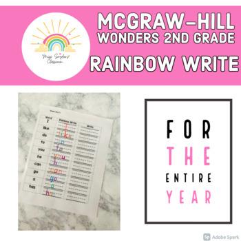 McGraw-Hill 2nd Grade Wonders Rainbow Write
