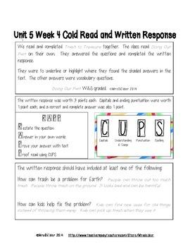McGraw-Hill 2nd Grade Wonders U5 W4 Weekly Assessment Answer Sheet