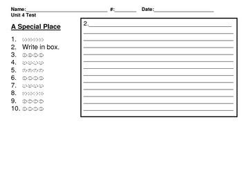 McGraw Hill 2nd Grade Wonders Unit 4 Bubble Sheet