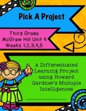 McGraw Hill 3rd Gr. Unit 4: Reading/Writing Activities, Howard Gardner, No Prep
