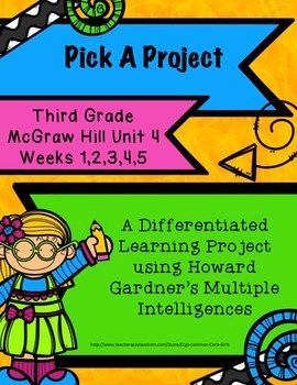 McGraw Hill 3rd Gr. Unit 4: Reading/Writing Activities, Howard Gardner, No Prep