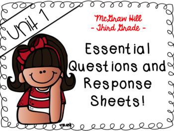 Wonders 3rd grade Unit 1 essential questions