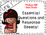 Wonders 3rd grade Unit 1 essential questions