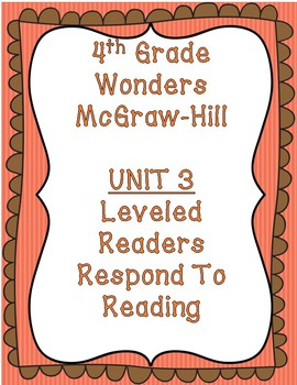 McGraw Hill Wonders 4th Grade Unit 3 Leveled Readers-Combo Pack