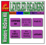 McGraw Hill 4th Grade Wonders Post-its ELL