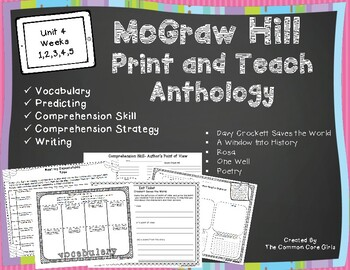 McGraw Hill 5th Grade Unit 4:  Print and Teach Anthology