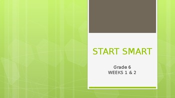 START SMART: McGraw Hill 6th Grade Wonders Start Smart Powerpoint Presentation