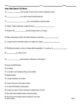 McGraw Hill 8th Grade U.S. History ch. 2 study guide