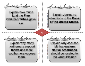 McGraw-Hill American History  Jackson Era Task Cards
