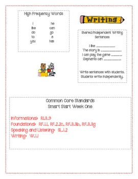 McGraw Hill First Grade Mini Focus Walls Smart Start
