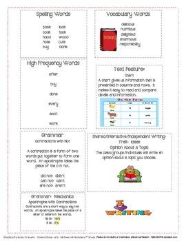 McGraw Hill First Grade Mini Focus Walls Unit 3 Weeks 4-6