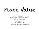 McGraw - Hill First Grade Place Value Assessments