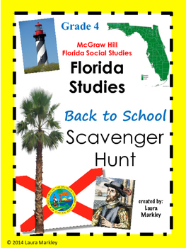 Social Studies Textbook Scavenger Hunt Grade 4